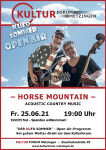 "Acoustic Country Music mit dem Duo ""Horse Mountain"" @ Kulturforum"