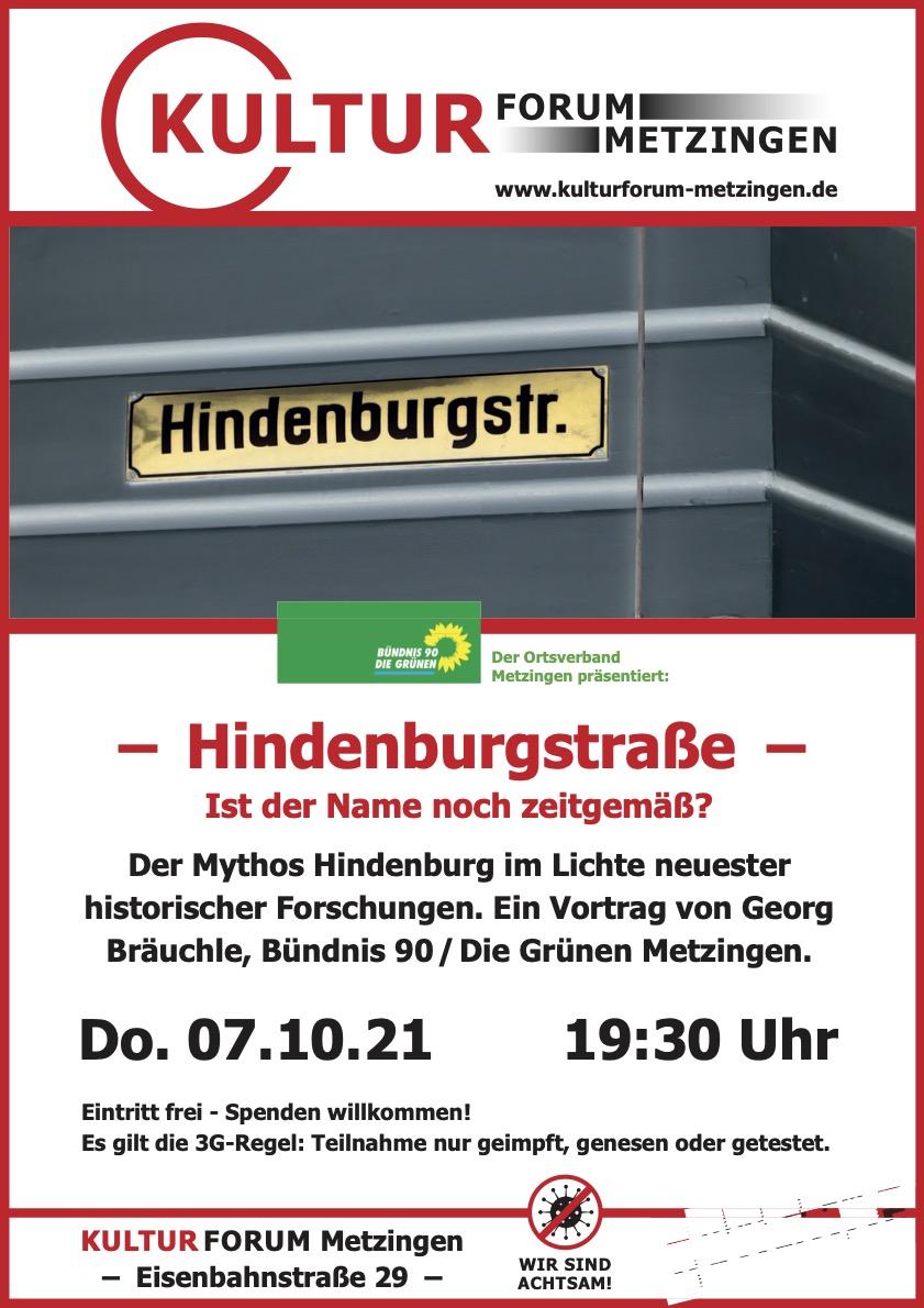 Hindenburgstraße - Ist der Name noch zeitgemäß?